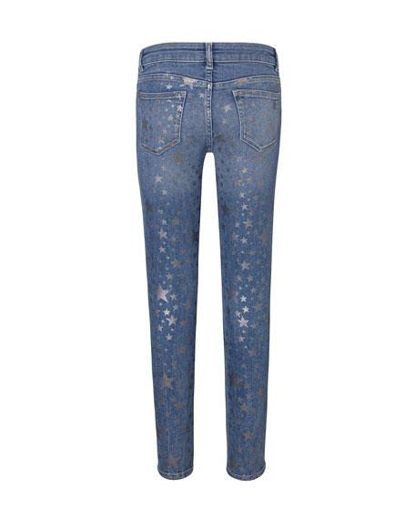 DL1961 Premium Denim Girl's Chloe Metallic Star Print Denim Jeans, Size 7-16