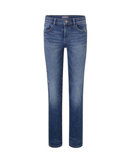 DL1961 Premium Denim Boy's Brady Slim Lightly Distressed Jeans, Size 8-16