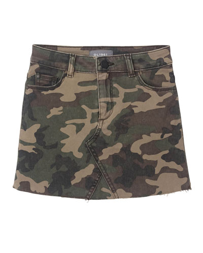Girl's Jenny Denim Camo Skirt  Size 7-16
