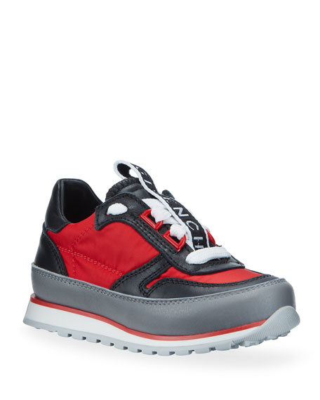 Givenchy Boy's Colorblock Mixed Materials Logo Sneakers, Toddler