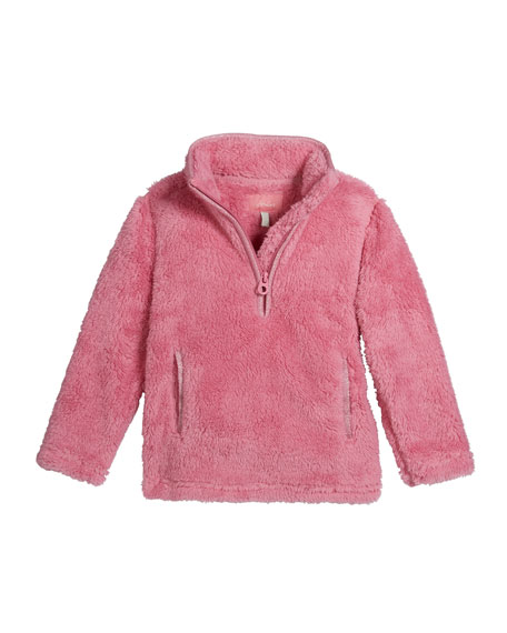 Joules Girl's Ellie Plush 1/4 Zip Pullover, Size 3-12