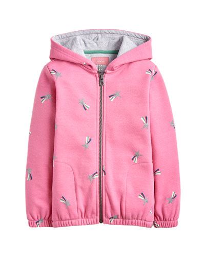 Girl's Maddie Shooting Star Print Hooded Jacket  Size 2-12
