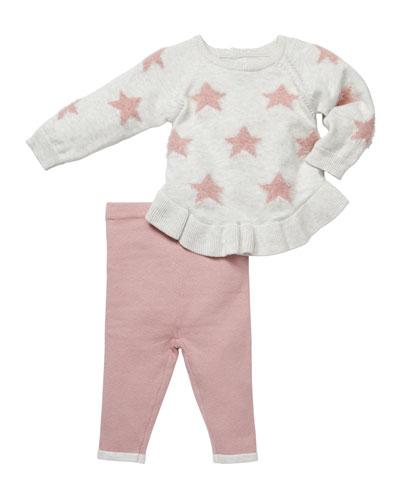 Star-Intarsia Sweater & Leggings Set  Size 3-9 Months