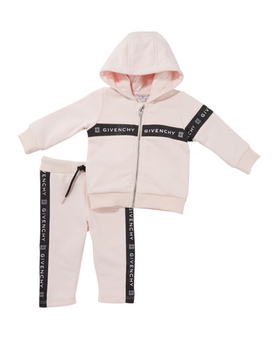 Girls' Colorblock Hooded Logo Jogging Set, Size 12M-3