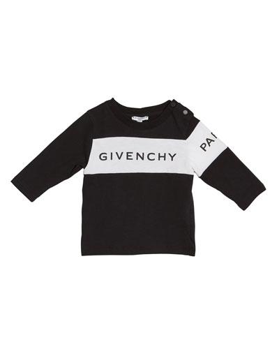 Boy's Long-Sleeve Colorblock Logo Tee  Size 12M-3