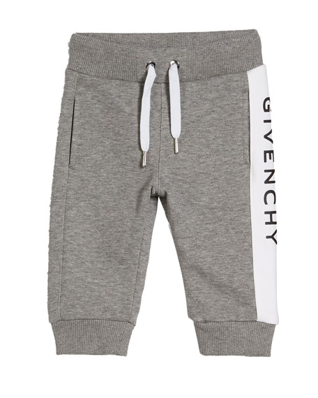 Givenchy Boy's Logo Trim Sweatpants, Size 12M-3