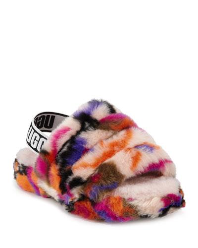 Fluff Yeah Faux Fur Slide Slippers  Kids