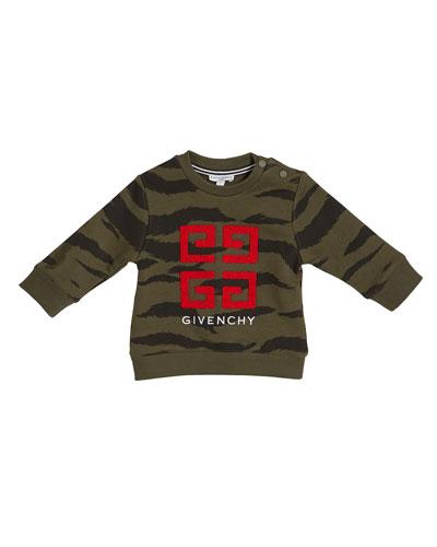 Boy's 4-G Logo Camo Sweatshirt  Size 12M-3