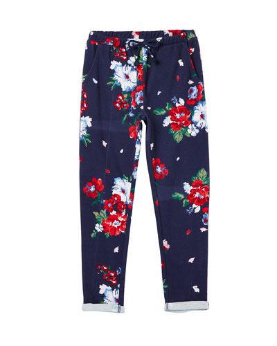 Girl's Jazzy Floral Print Jogger Pants  Size 2-6