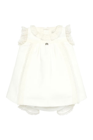 Pili Carrera Lace Trim Sleeveless Dress w/ Bloomers, Size 3-18 Months