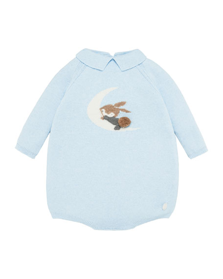 Pili Carrera Bunny In The Moon Knit Romper, Size 3-18 Months