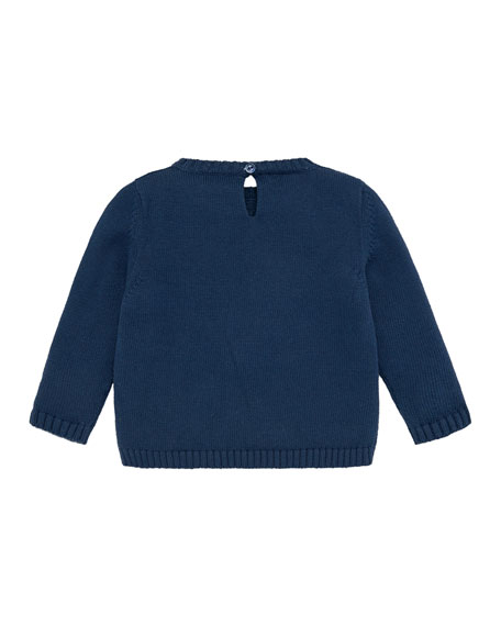 Pili Carrera Penguins Intarsia Sweater, Size 12M-3
