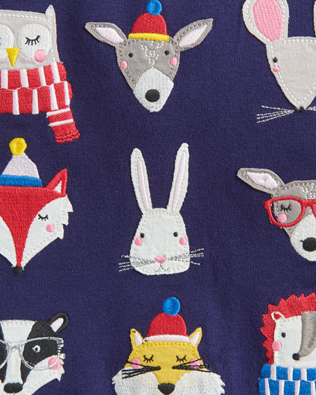 Joules Girl's Esme Animal Top, Size 2-6