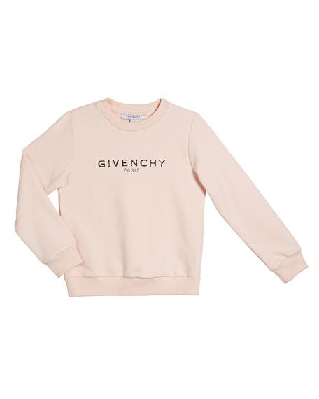Givenchy Girl's Logo Sweatshirt, Size 12-14