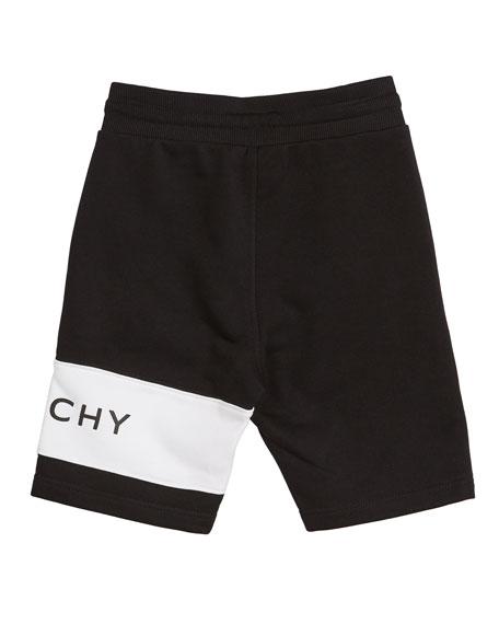 Givenchy Boy's Drawstring Sweat Shorts w/ Logo Detail, Size 4-10