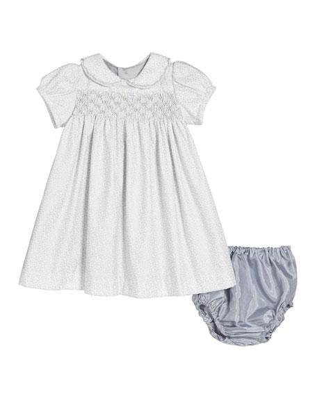 Isabel Garreton Vines Print Short-Sleeve Dress w/ Matching Bloomers, Size 6-18 Months