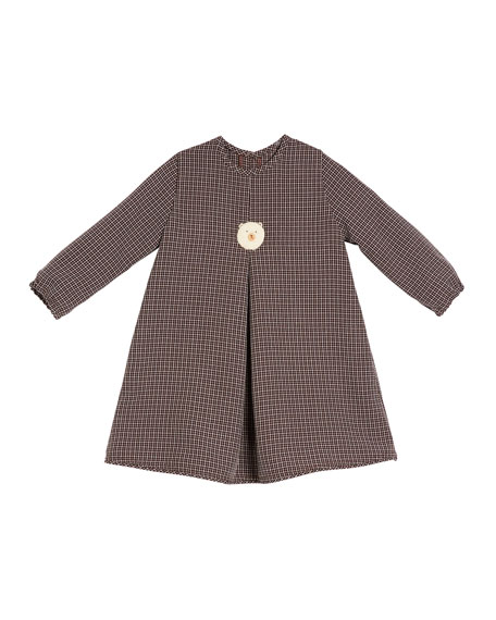 Image 1 of 2: Girls' Felted Bear Dress, Size 2T-6