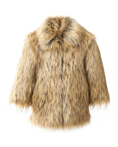 Kid's Faux-Fur Coat  Size XXS-L