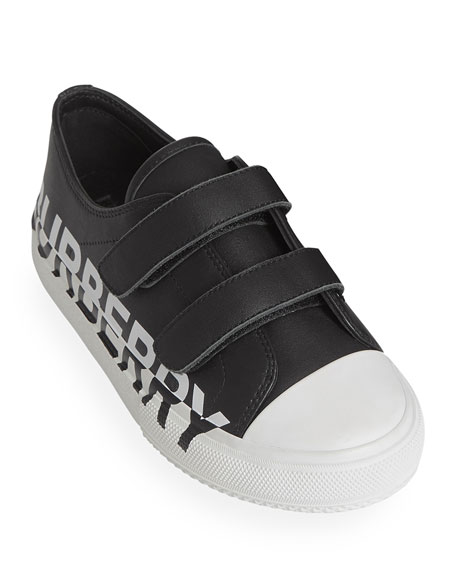 Burberry Larkhall Two-Tone Logo Low-Top Sneakers, Toddler/Kids
