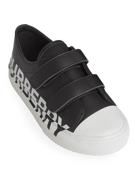 Burberry Larkhall Two-Tone Logo Low-Top Sneakers, Baby/Toddler