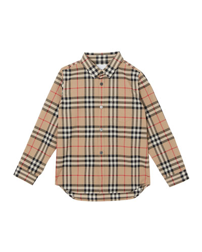 Fredrick Long-Sleeve Check Shirt  Size 3-14