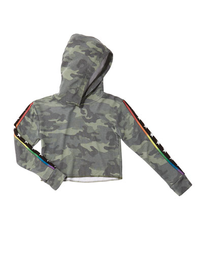 Girl's Camo Hoodie w/ Star Taping  Size S-XL