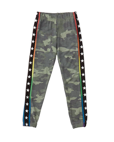 Girl's Camo Sweatpants w/ Star Taping  Size S-XL