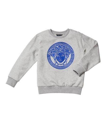 Versace Boy's Medusa Logo Graphic Sweatshirt, Size 4-6