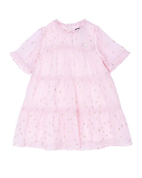 Velveteen Girl's Melissa Tiered Dress, Size 3-24 Months