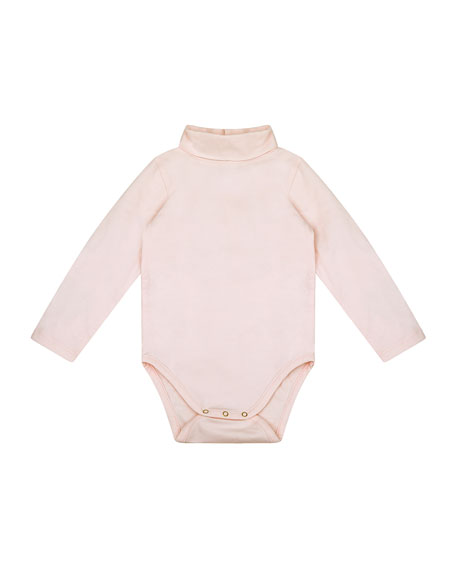 Velveteen Bethany Turtleneck Long-Sleeve Bodysuit, Size 12-24 Months