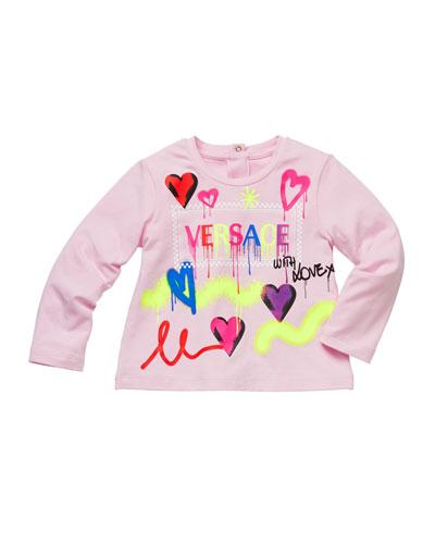 Girl's Graffiti Logo Print T-Shirt  Size 12M-3