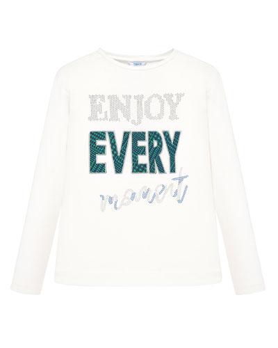 Girl's Enjoy Every Moment Long-Sleeve Tee, Size 8-16
