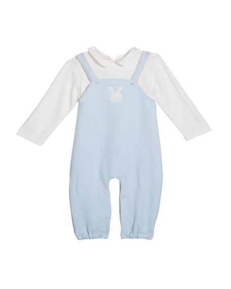 Mayoral Boy's Bunny Long-Sleeve Overalls, Size 1-9 Months