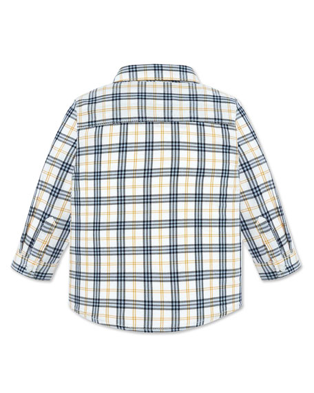 Mayoral Boy's Plaid Button Up Shirt, Size 12-36 Months