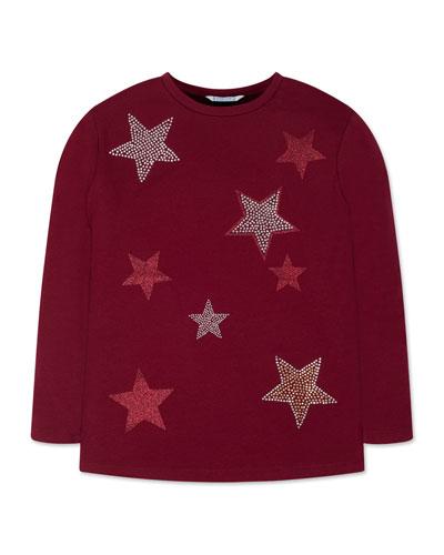 Girl's Glitter Stud Star Tee  Size 8-16