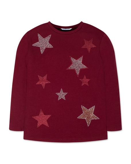 Mayoral Girl's Glitter Stud Star Tee, Size 8-16