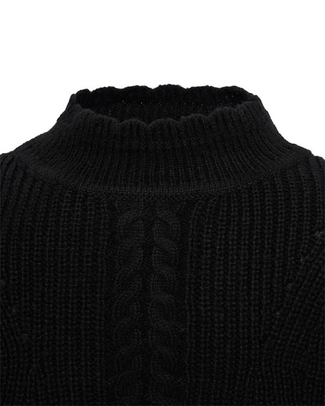 Mayoral Girl's Mock Neck Tricot Sweater, Size 8-16