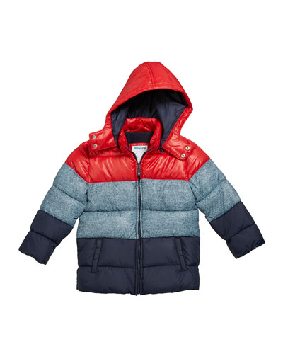 Boy's Colorblock Puffer Coat  Size 12-36 Months