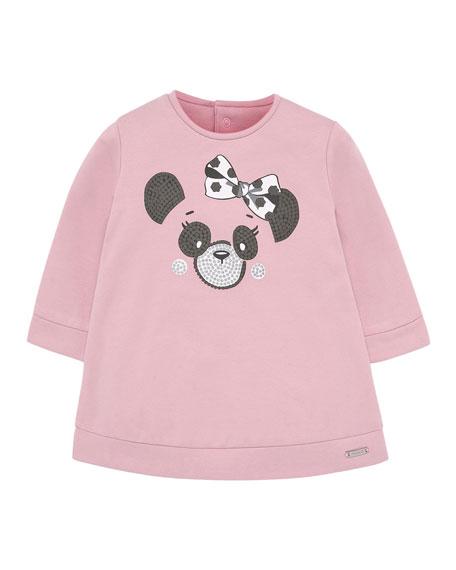 Mayoral Girl's Plush Panda Dress, Size 6-36 Months