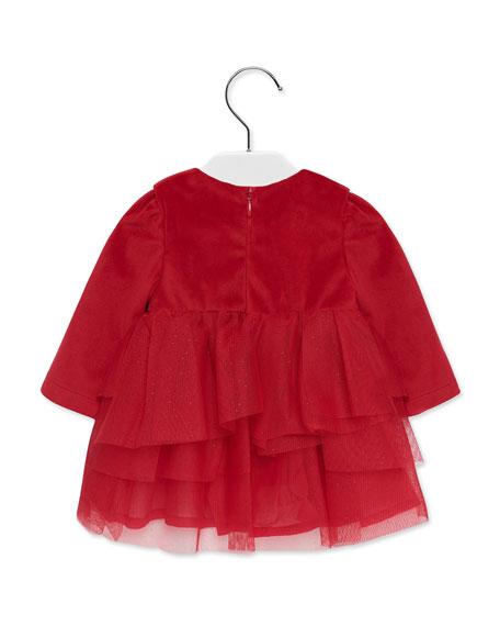Mayoral Girl's Tulle & Velvet Long-Sleeve Dress, Size 6-36 Months