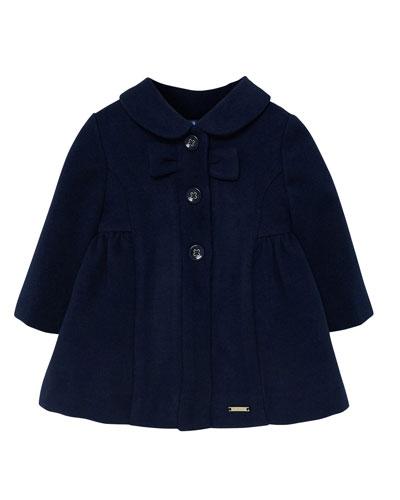 Girl's Peter Pan Collar Dress Coat  Size 6-36 Months