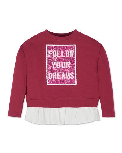 Girl's Flip Sequin Sweatshirt, Size 8-16