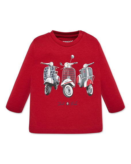 Mayoral Boy's Mopeds Graphic Tee, Size 12-36 Months