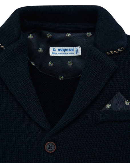 Mayoral Boy's Knit Button Front Jacket, Size 12-36 Months