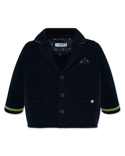 Boy's Knit Button Front Jacket, Size 12-36 Months