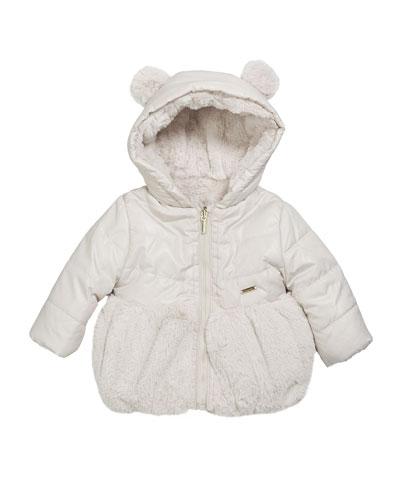 Girl's Reversible Faux Fur Jacket  Size 6-36 Months