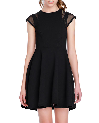 The Willow Mesh-Sleeve Dress  Size S-XL