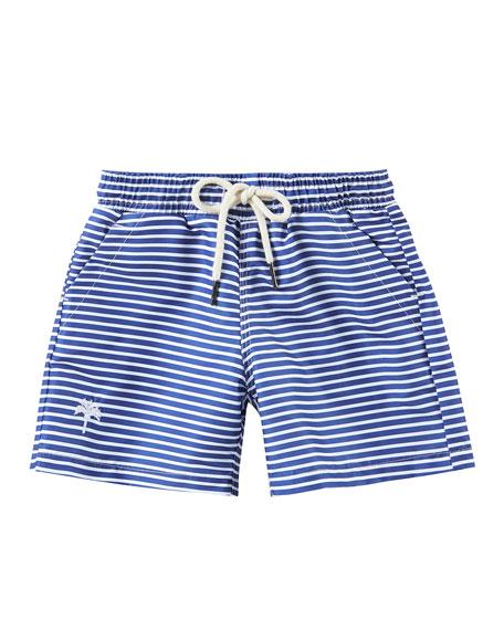 OAS Kid's Striped Drawstring Swim Trunks, Size 2-14