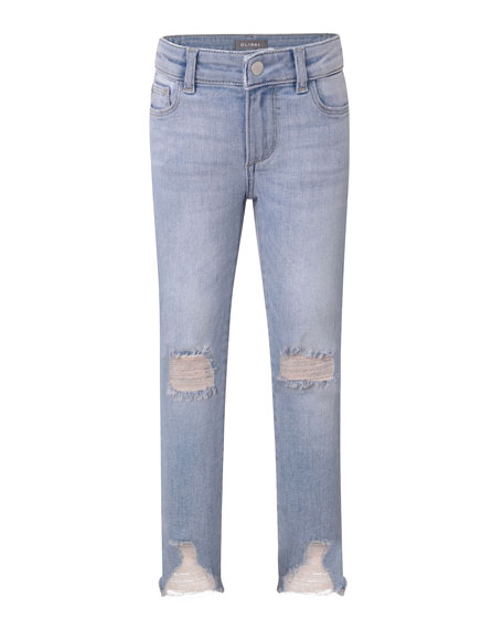 DL 1961 Chloe Distressed Skinny Jeans, Size 7-16