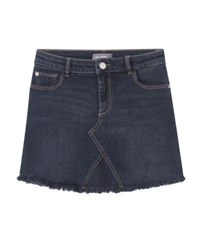 Jenny Raw Edge Denim Skirt  Size 7-16
